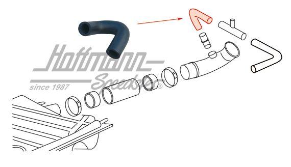 Ventilation hose, filler neck to T-piece
