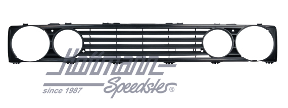 Radiator Sport Front Rib Grill without Emblem Black