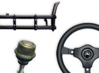 Front axle, Steering