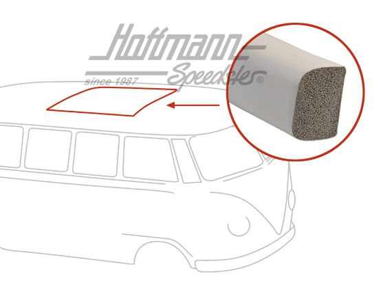 Seal, grey, roof opening, WESTFALIA, -7 67